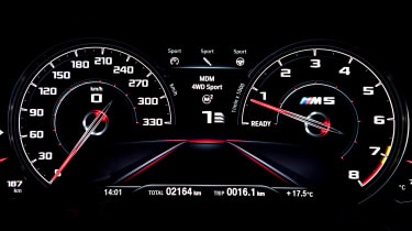 BMW M5 Competition review - dials