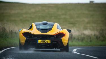 McLaren P1 yellow DS - rear