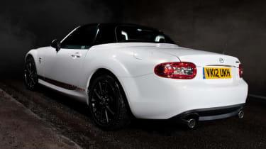 Mazda MX-5 Kuro special edition white rear