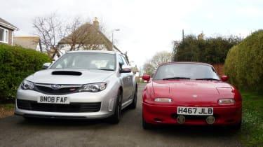 Subaru Impreza and Mazda MX-5