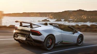 Lamborghini Huracan Performante Spyder - rear quarter