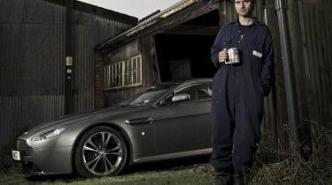 Guy Martin and his Aston Martin V12 Vantage