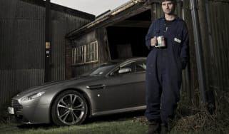 Guy Martin and his Aston Martin V12 Vantage