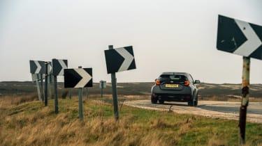 2021 Toyota GR Yaris black - rear cornering
