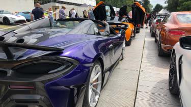 Goodwood FoS Supercar queue -
