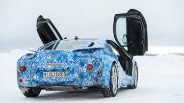 BMW i8 hybrid sports car doors up