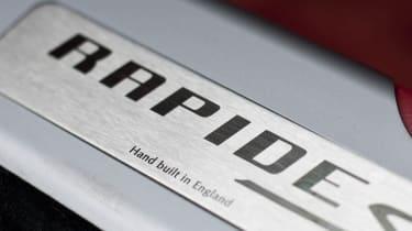 2013 Aston Martin Rapide S kick plate badge