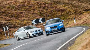BMW M235i vs BMW M3 evo feature