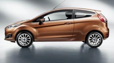 2013 Ford Fiesta 3 door side profile