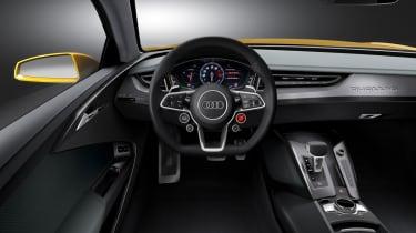Audi Sport Quattro concept interior dashboard steering wheel