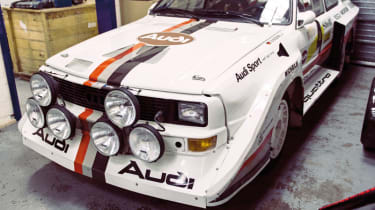 Sport Quattro S1 test car was driven by all the early '80s Audi works drivers