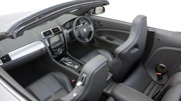 2013 Jaguar XKR Convertible interior 2+2 leather