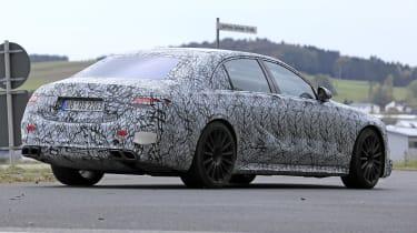Mercedes-AMG S63 2021 spy raer quarter