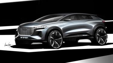 Audi Q4 e-Tron sketch - front quarter