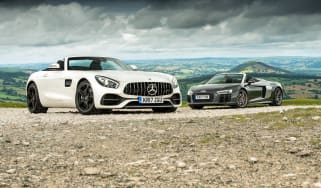 Mercedes-AMG GT Roadster and Audi R8 Spyder