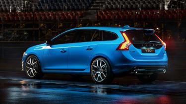 Volvo V60 Polestar blue rear