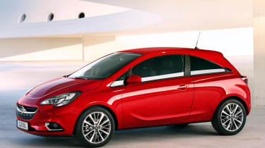 New Vauxhall Corsa red