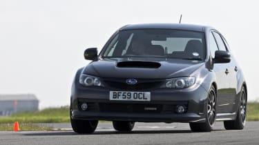 Subaru Impreza Cosworth CS400 track corner