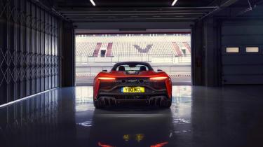 McLaren Artura revealed - orange garage rear