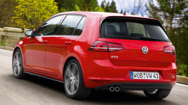 2013 Volkswagen Golf GTD red rear
