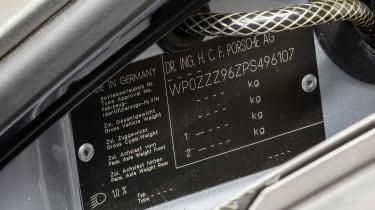 Porsche 911 Carrera RSR - plate