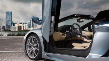 Lamborghini Aventador LP700-4 Roadster interior door up