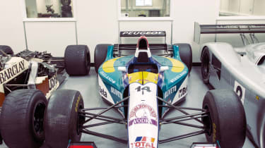 1995 Jordan F1 car, as driven by Rubens Barrichello; engine is a 3-litre Peugeot V10