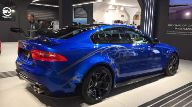 Jaguar XE SV Project 8 - Goodwood rear three quarter