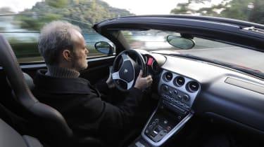 Alfa Romeo 8C Spider cockpit