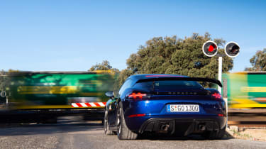 Porsche 718 Cayman GT4 static rear