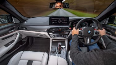 BMW M5 Competition - 2021 interior driving