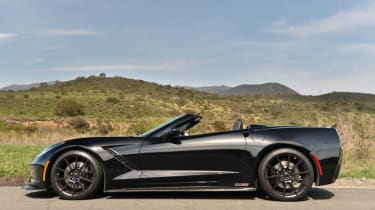 Hennessey's 700bhp Corvette Z06 side profile