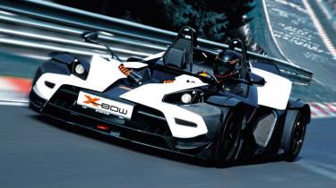 KTM X-Bow R white on track