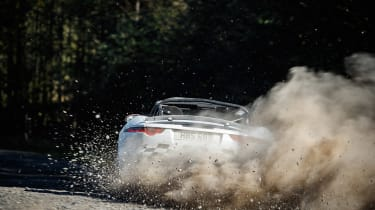 Jaguar F-Type rally car - dirt