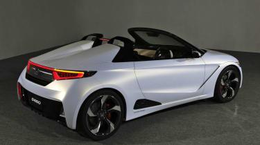 Honda S660 sports car concept rear