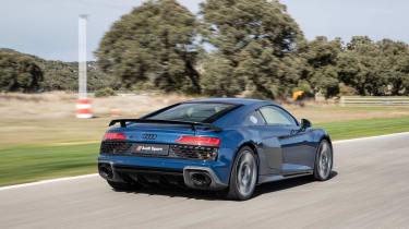 Audi R8 facelift review - rear quarter