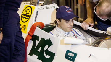 Felipe Massa in car