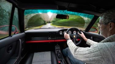 Everrati Porsche 964 – interior driving