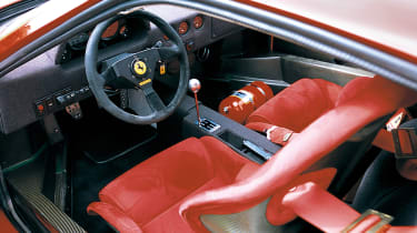 Ferrari F50 interior with open gate