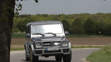 Mercedes-Benz G63 AMG cornering