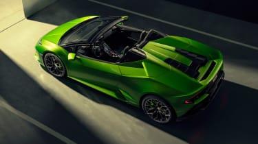 Lamborghini Huracan Evo Spyder - rear top