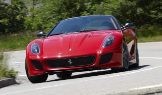 Ferrari 599 GTO cornering