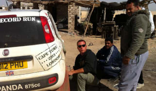 Fiat Panda Africa record run - Day 7