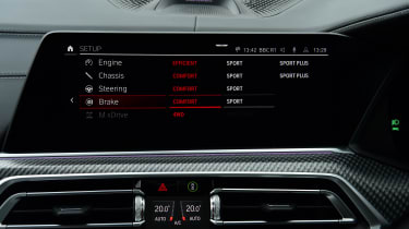 BMW X5M Competition - screen
