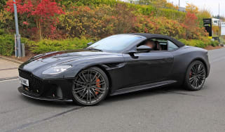 Aston Martin DBS Volante spy - OCT18 front quarter