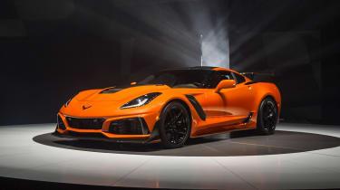 Corvette ZR1 - orange front quarter