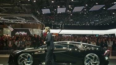 Bugatti La Voiture Noire at Geneva 2019 side
