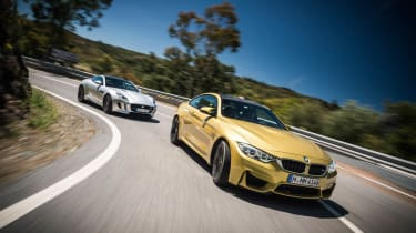 evo Magazine July 2014 - BMW M4 vs Jaguar F-type Coupe