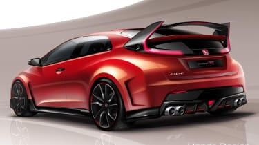 Honda Civic Type-R turbo concept coming to Geneva