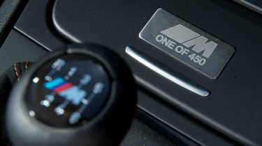 BMW 1M review manual gear stick plaque